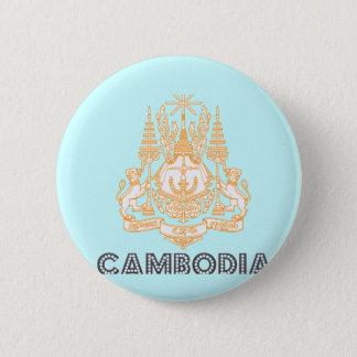 Badge Rond 5 Cm Emblème cambodgien