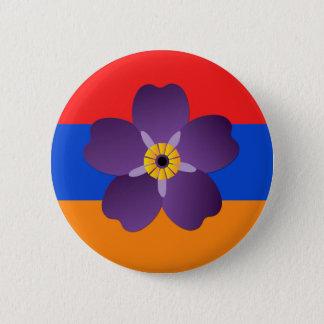 Badge Rond 5 Cm Emblème centennal et drapeau de génocide arménien