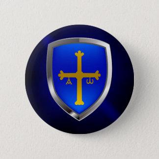 Badge Rond 5 Cm Emblème métallique des Asturies