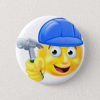 Badge Rond 5 Cm Émoticône pratique d'Emoji de constructeur de