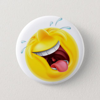 Badge Rond 5 Cm Émoticône riante d'Emoji