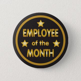 Badge Rond 5 Cm Employé des étoiles d'or de mois