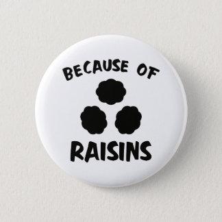 Badge Rond 5 Cm En raison des raisins secs