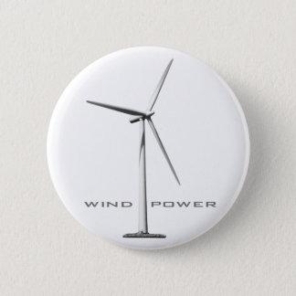 Badge Rond 5 Cm Énergie éolienne