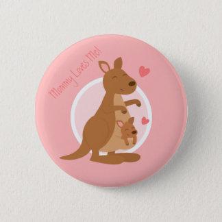 Badge Rond 5 Cm Enfant mignon de mère de Joey de bébé de kangourou