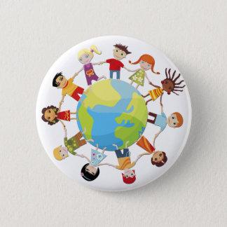 Badge Rond 5 Cm Enfants pour la paix du monde
