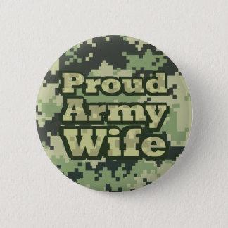 Badge Rond 5 Cm Épouse fière d'armée