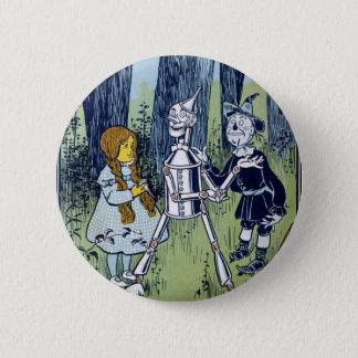 Badge Rond 5 Cm Épouvantail de forestier de bidon de magicien d'Oz