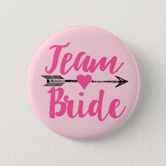 Badge Rond 5 Cm Équipe Bride Pink