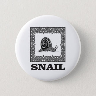 Badge Rond 5 Cm escargot encadré