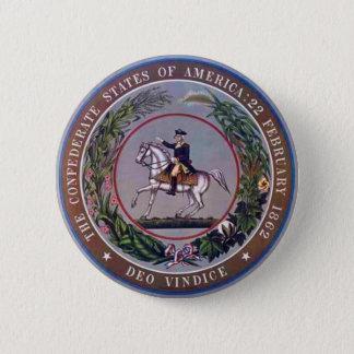 Badge Rond 5 Cm États confédérés de joint d'Amérique