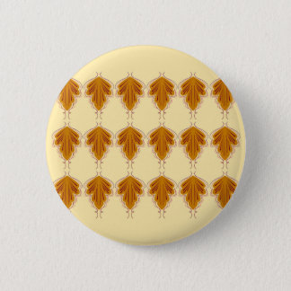 Badge Rond 5 Cm Ethno d'or de mandalas de conception