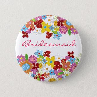 Badge Rond 5 Cm Étiquette de nom de mariage de DEMOISELLE