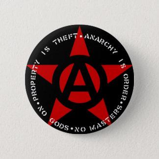 Badge Rond 5 Cm Étoile d'anarchiste