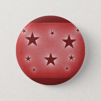 Badge Rond 5 Cm Étoiles dans le bouton de ciel nocturne, rouge