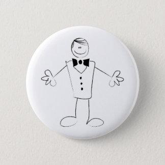 Badge Rond 5 Cm Étreindre le marié avec les bras ouverts