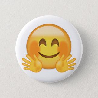 Badge Rond 5 Cm Étreindre le visage Emoji