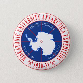 Badge Rond 5 Cm Expédition de Miskatonic Antarctique de Lovecraft
