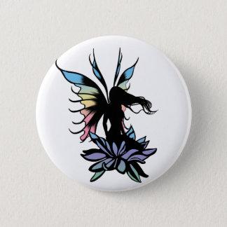 Badge Rond 5 Cm Fée d'ombre de Lotus