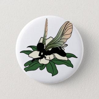 Badge Rond 5 Cm Fée d'ombre de magnolia