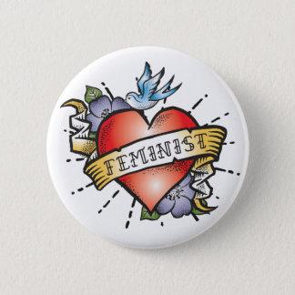 Badge Rond 5 Cm Féministe