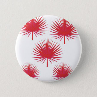 Badge Rond 5 Cm Feuille rouge exotique de paumes de conception