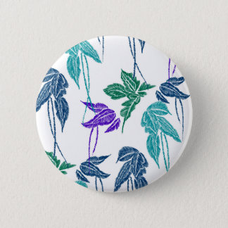Badge Rond 5 Cm Feuille tropical