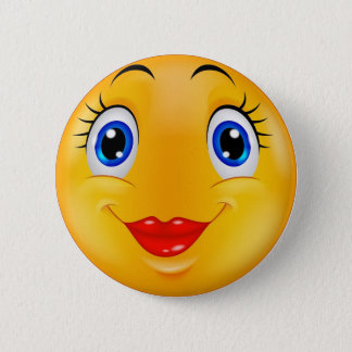 Badge Rond 5 Cm Fille de sourire