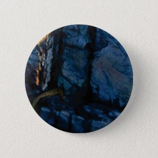 Badge Rond 5 Cm fissures verticales profondes dans la roche