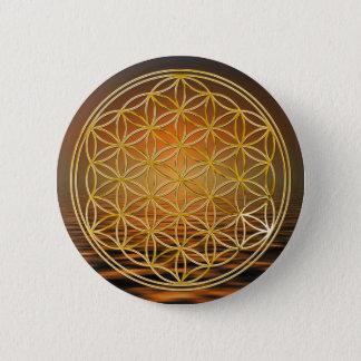 Badge Rond 5 Cm Fleur d'or de la vie  , petite