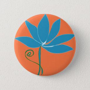 Badges Fleur Lotus Bleu Zazzle Fr