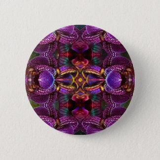 Badge Rond 5 Cm Fleur psychédélique de fleur