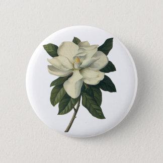 Badge Rond 5 Cm Fleurs blanches de floraison de fleur de magnolia