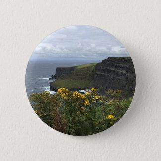 Badge Rond 5 Cm Fleurs sur les falaises de Moher