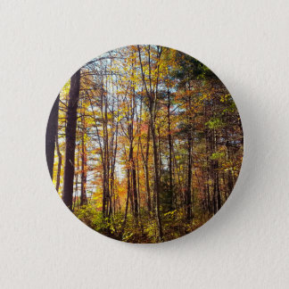 Badge Rond 5 Cm Forêt d'automne du New Hampshire