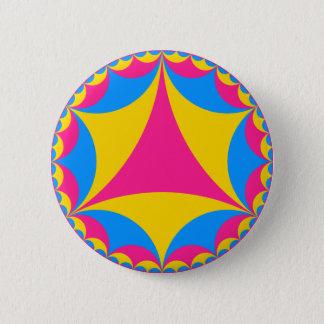 Badge Rond 5 Cm Fractale Pansexual de drapeau