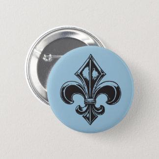 Badge Rond 5 Cm Français VOS COULEURS de Québec goth fleur de lys