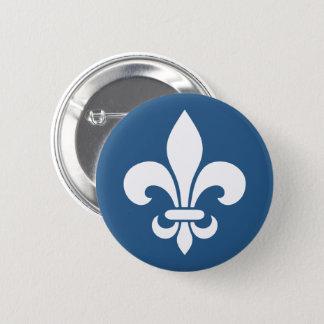 Badge Rond 5 Cm Français VOS COULEURS de Québec patriote fleur de