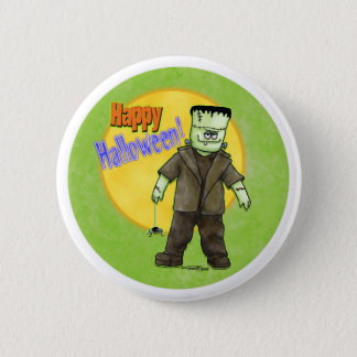 Badge Rond 5 Cm Frankenstein Halloween