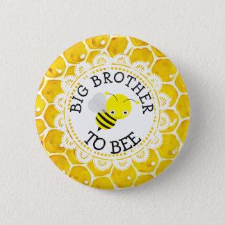 Badge Rond 5 Cm Frère au bouton de baby shower d'abeille
