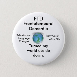 Badge Rond 5 Cm FTD, tourné mon bouton à l'envers du monde