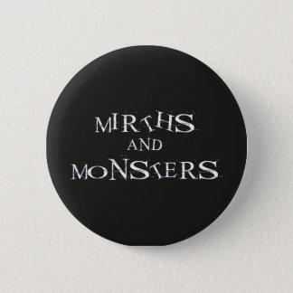Badge Rond 5 Cm Gaietés et bouton de monstres