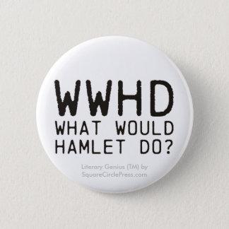 Badge Rond 5 Cm Génie littéraire : Question de Hamlet