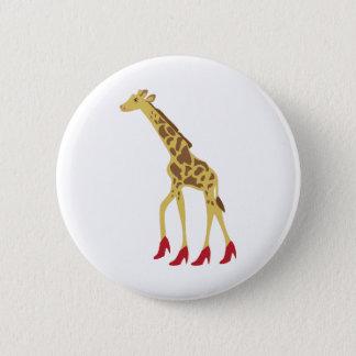 Badge Rond 5 Cm Girafe gîtée