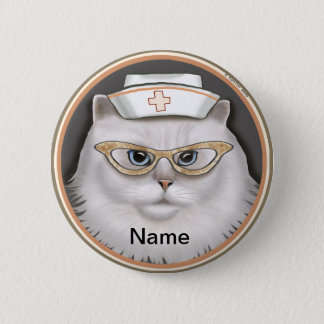 Badge Rond 5 Cm Goupille ronde d'infirmière de chat persan