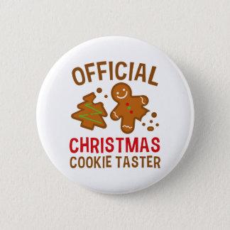 Badge Rond 5 Cm Goûteur officiel de biscuit de Noël