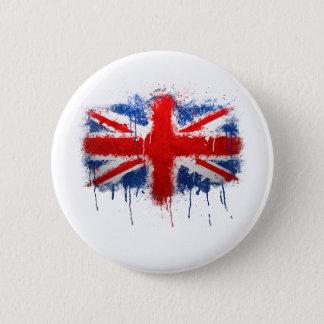 Badge Rond 5 Cm Graffiti d'Union Jack