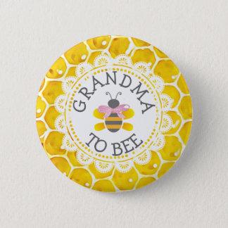 Badge Rond 5 Cm Grand-maman au bouton de baby shower d'abeille