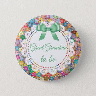 Badge Rond 5 Cm Grande grand-maman à être bouton floral de baby