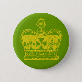 Badge Rond 5 Cm Graphique royal de couronne